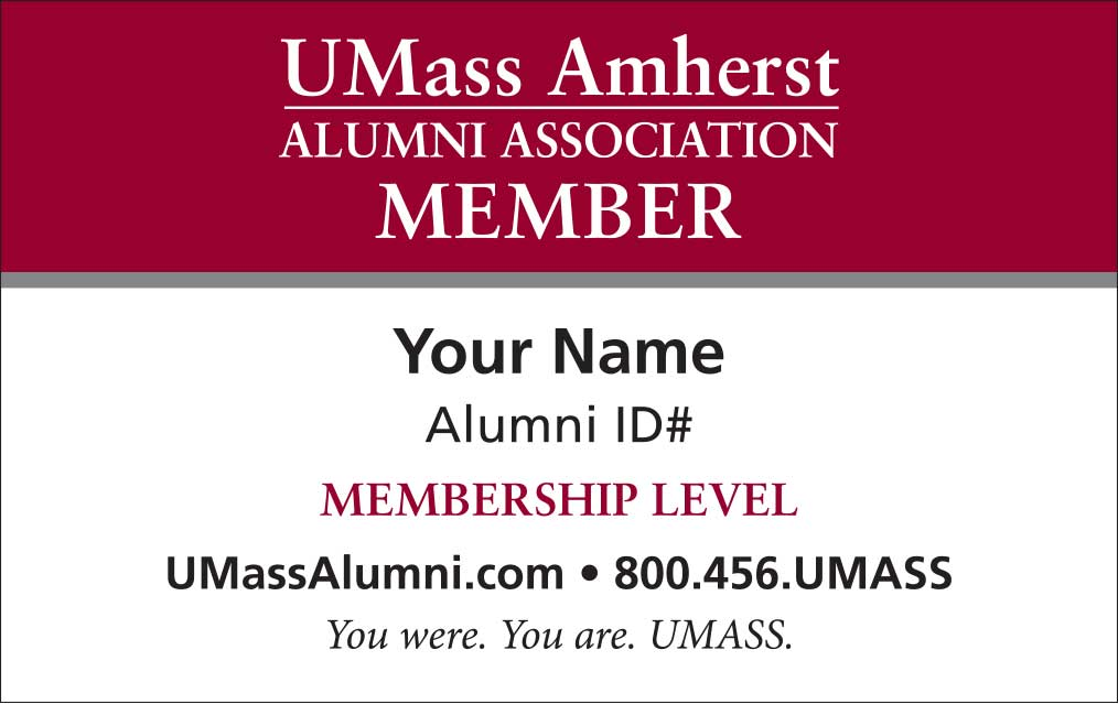 UMass Amherst Alumni Association Printable Membership Card – Printable Membership Cards