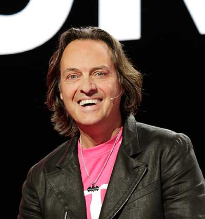 The 62-year old son of father (?) and mother(?) John Legere in 2021 photo. John Legere earned a  million dollar salary - leaving the net worth at  million in 2021